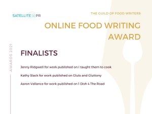 Guild of Food Writers Finalist online food writing award